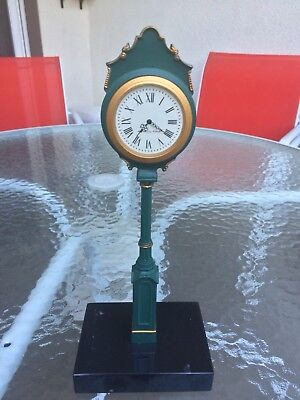 E. Howard Miniature Collectable 2 Dial Clock - Works Perfectly!