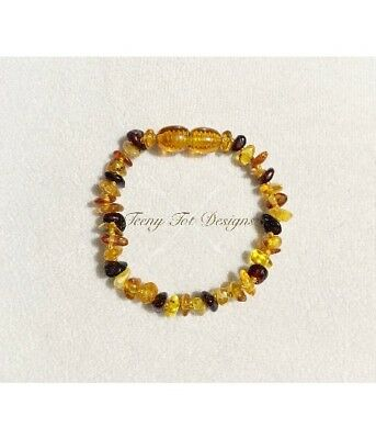 Baby Amber Anklet or Amber Bracelet - Amber Jewellery newborn and toddler