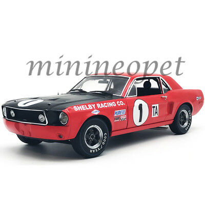 Acme Greenlight 12988 1968 Ford Shelby Gt-350 Mustang #1 1/18 Jerry Titus Red