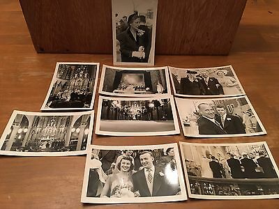 9 Vintage B&W photo lot / WEDDING Photos OLD SNAPSHOTS 1930-40's?