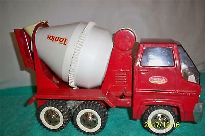 """Tonka Good 1970's # 2620 Cement Mixer Truck Fully Working Pressed Steel 14 """"Long"""