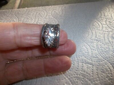 SILPADA Israel Retired .925 Sterling Silver Marquise CZ Ring. BID STARTS AT $.99