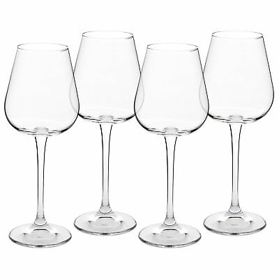 Crystal White Wine Glasses - Set of 4 - Lead-Free Glass Imported From The Czech