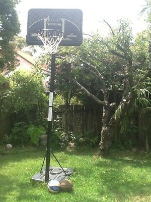 NBA Spalding Basketball System - plus two excellent basketballs!