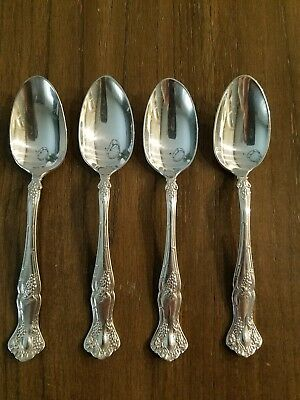 VINTAGE GRAPE SILVERPLATE 1847 ROGERS BROS INTERNATIONAL - dessert spoons- WOW!!