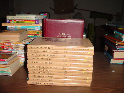 Complete Time Life History of the United States Books 1-12, Red and Tan Books