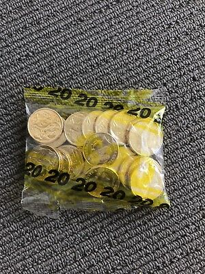 5x 2017 Mob Of Roos MOR $1 Coin Mint Bag