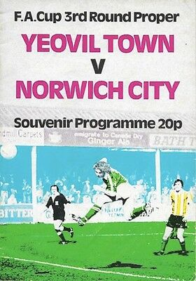 Yeovil Town V Norwich City 79/80 -- Fa Cup 3.