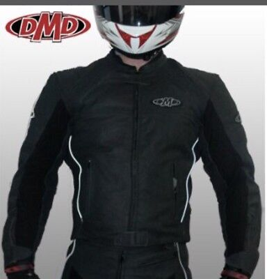 DMD Sierra Leather Jacket Size 58 Motorbike Motorcycle Track Race Tour Adventure