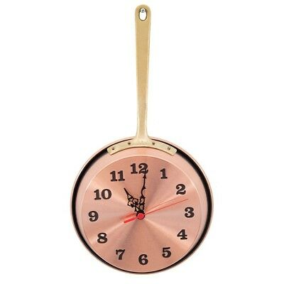 Wall clock copper polished pan pot