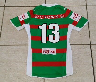 Nrl South Sydney Rabbitohs Player Issue Game Jersey W Grips # 13