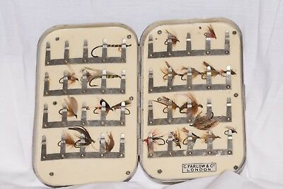 Vintage Richard Wheatley Fly Box from C.Farlows of London + period flies