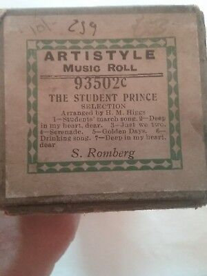 artistyle music roll 93502c the student prince