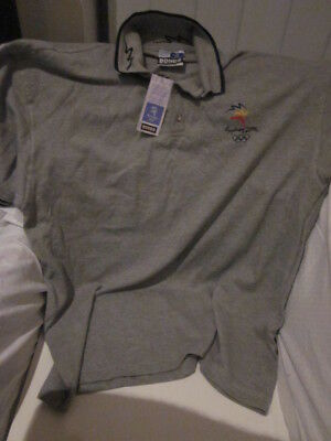 Sydney 2000 Olympics New Grey Bonds Licensed Supporter Polo Shirt
