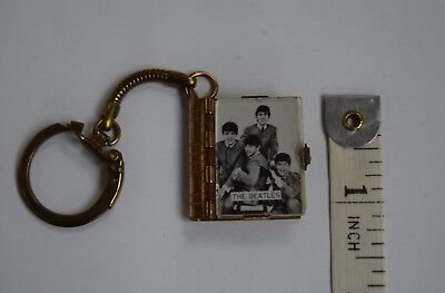Official UK NEMS Beatles miniature photo book key ring 1963 like brooch necklace
