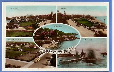 Old Vintage Rp Postcard Views Of Morecambe Lancashire Regent Park Westend