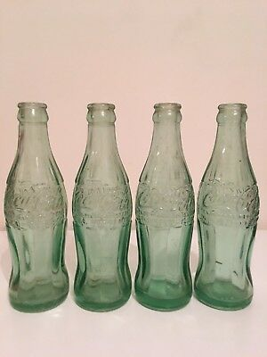 "RARE! ANTIQUE/VINTAGE LOT OF 4 ""COCA-COLA"" BOTTLES MID 1900's, High $$$!"