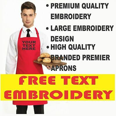 Personalised Custom Embroidered Aprons, Highest Quality Workwear Premier Aprons