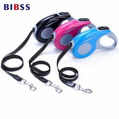 ABS Walking Running Automatic Retractable Dog Cat Leash Easy Grip 3M 5M Pulling