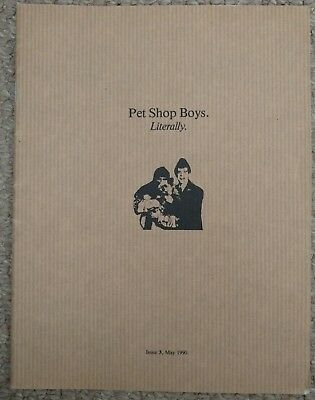 Pet Shop Boys, Literally Issue 3. Rare Fan Club Magazine - May 1990