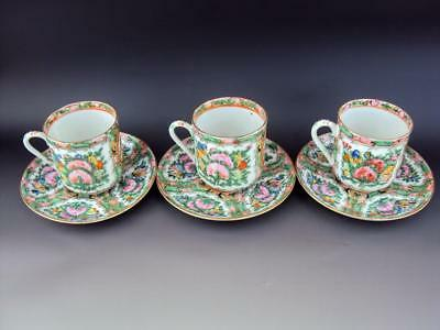 Beautiful Chinese 19thC Antiques Porcelain Famille Rose Dish and Cup