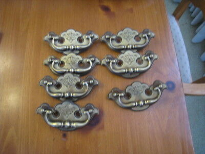 7 ct Keeler N-13176 Dresser Drawer Handle Pull Furniture Hardware Vintage