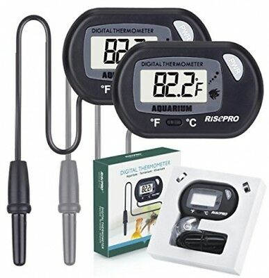 Aquarium Thermometer, RISEPRO® 2 pack Digital Water Thermometer For Fish Tank