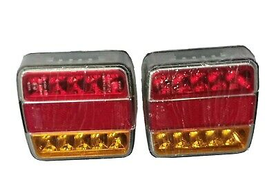 2 x LED REAR LIGHTS STOP TAIL INDICATOR TRAILER 12V 24V DUAL VOLT MAYPOLE MP8903