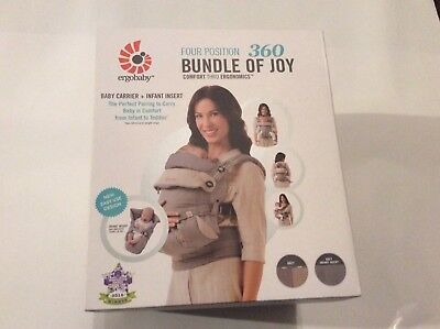 Ergobaby Bundle of Joy 4 Position 360 Baby Carrier With Insert In Grey Brand New