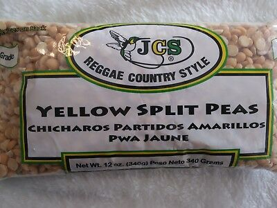 Yellow Split Pea ~(LOT of 3)~ (each package 12oz) ~by JCS~ Jamaican~Chicharos