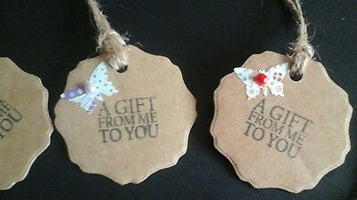 Handmade die cut shabby chic, vintage style tags, birthday, card toppers, gifts.