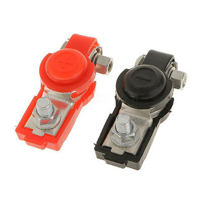 2x Adjustable Battery Terminal Clamp Clips Negative Positive for Car Truck  HF