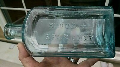 APPLIED TOP LINDSEY'S BLOOD + SEARCHER PITTSBURGH LARGE 1860's MED GREAT EXAMPLE