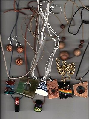 Lot of 10 Necklaces Hand Crafted with 5 Display Boxes