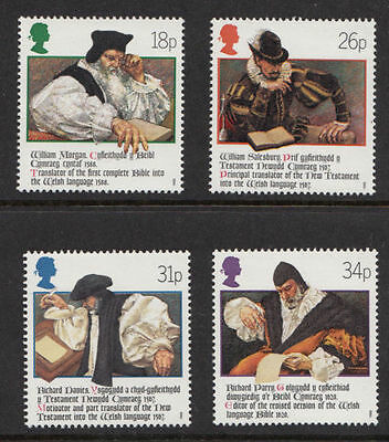 Sg1384-1387 1988 Welsh Bible ~ Unmounted Mint Gb