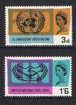 SG681-682 1965 United Nations Unmounted Mint