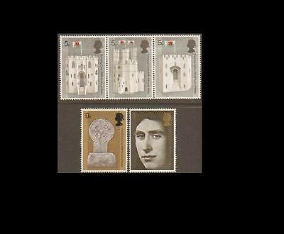 SG802-806 1969 Investiture of H.R.H Prince of Wales Unmounted Mint GB