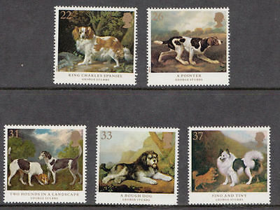 Sg1531-1535 1991 Dogs, Stubbs Paintings ~ Unmounted Mint Gb.