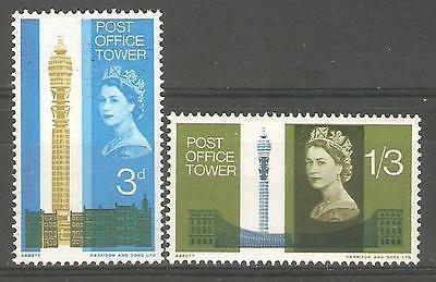 SG679p-680p 1965 POST OFFICE TOWER  PHOSPHOR ~ UNMOUNTED MINT