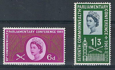 SG629-630 1961 PARLIAMENT Unmounted Mint