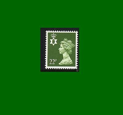 NI54 22p Yellow-green Northern Ireland Regional Unmounted Mint