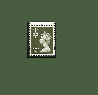 NI74 30p Olive-grey LITHO QUESTA Northern Ireland Regional Unmounted Mint