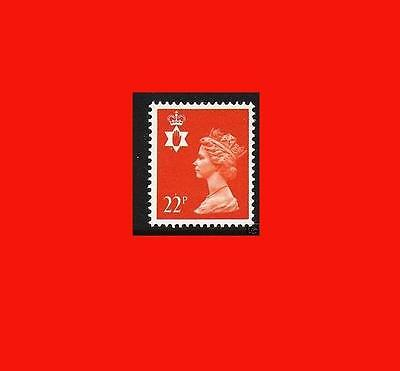 NI55 22p Orange-red Northern Ireland Regional Unmounted Mint GB Machin