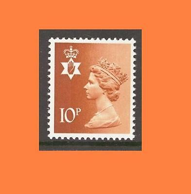 NI28 10p Orange CENTRE BAND Northern Ireland Regional Unmounted Mint