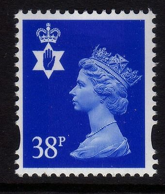 NI83 38p Ultramarine PHOTO - NORTHERN IRELAND Regional Unmounted Mint GB Machin