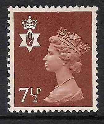 NI23 7½p Chestnut Northern Ireland Regional Unmounted Mint GB Machin