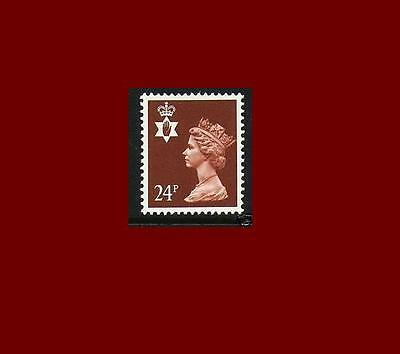 NI59 24p Chestnut TWO BANDS Northern Ireland Regional Unmounted Mint