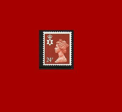 NI57 24p Indian Red Northern Ireland Regional Unmounted Mint GB Machin