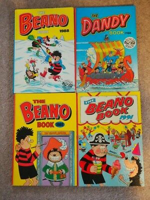 COLLECTION OF DANDY AND BEANO ANNUALS 1980s