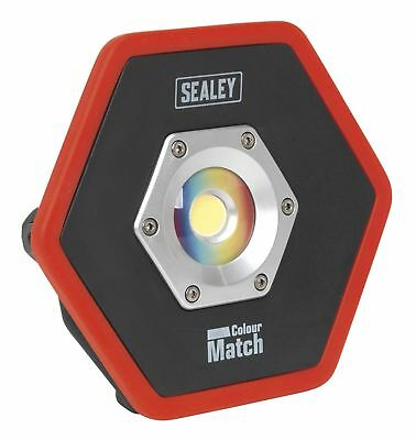 Sealey LED065 Rechargeable Floodlight 10W COB LED Lithium Colour Matching CRI